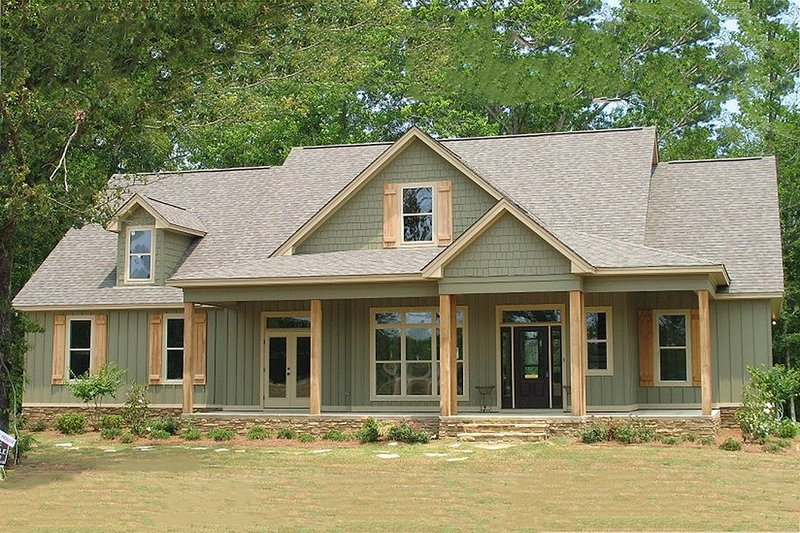 House Plan Design - Country Exterior - Front Elevation Plan #63-270