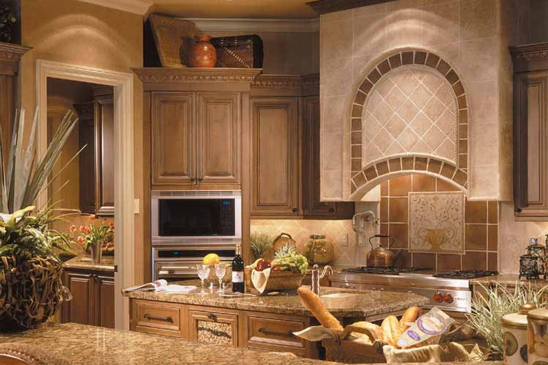 Mediterranean Interior - Kitchen Plan #930-325 - Houseplans.com
