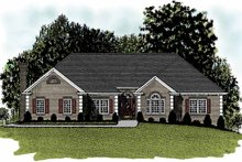 Dream House Plan - Ranch Exterior - Front Elevation Plan #56-655