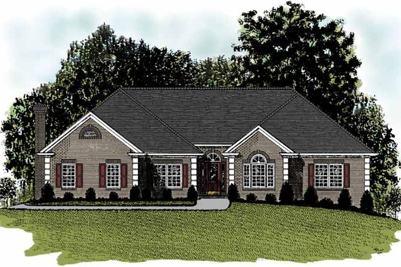 Ranch Exterior - Front Elevation Plan #56-655