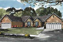 Home Plan - Ranch Exterior - Front Elevation Plan #17-2977