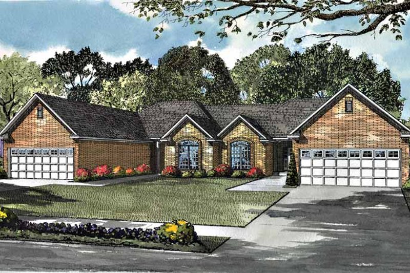 Ranch Exterior - Front Elevation Plan #17-2977