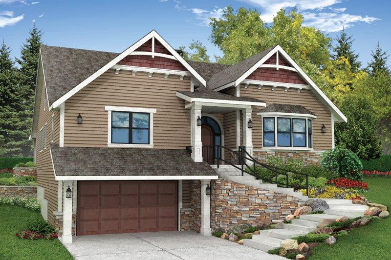 Craftsman Exterior - Front Elevation Plan #124-923