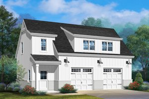 Dream House Plan - Farmhouse Exterior - Front Elevation Plan #22-575