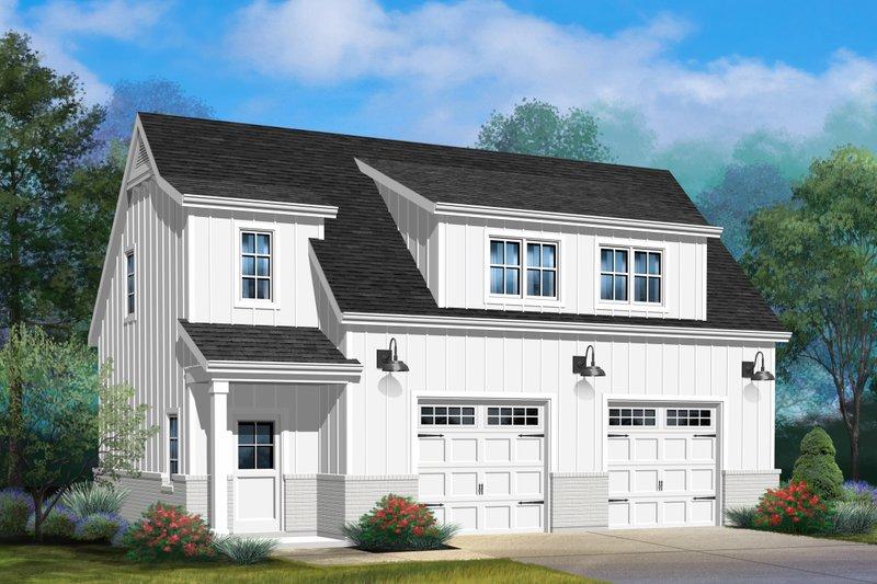 House Plan Design - Farmhouse Exterior - Front Elevation Plan #22-575