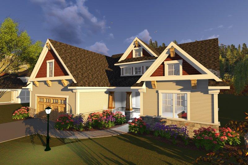 Craftsman Exterior - Front Elevation Plan #70-1251