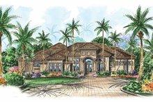 House Plan Design - Mediterranean Exterior - Front Elevation Plan #1017-23