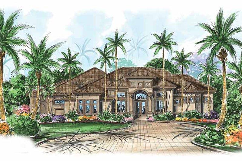 Dream House Plan - Mediterranean Exterior - Front Elevation Plan #1017-23