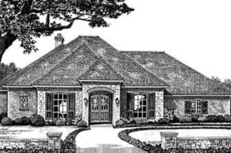 European Style House Plan - 3 Beds 2.5 Baths 2238 Sq/Ft Plan #310-243 Exterior - Front Elevation