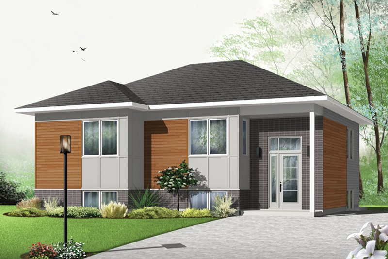Contemporary Exterior - Front Elevation Plan #23-2578 - Houseplans.com