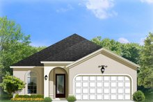 Architectural House Design - Adobe / Southwestern Exterior - Front Elevation Plan #1058-88