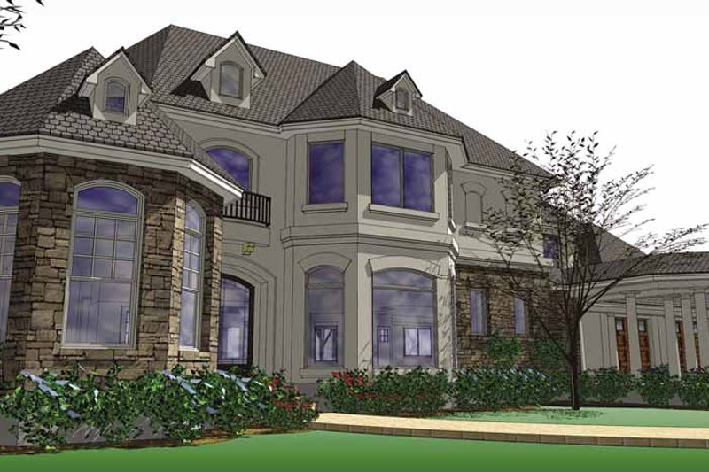 European Exterior - Front Elevation Plan #120-219