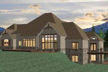 European Exterior - Rear Elevation Plan #937-15