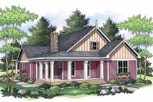 Country Exterior - Front Elevation Plan #51-691
