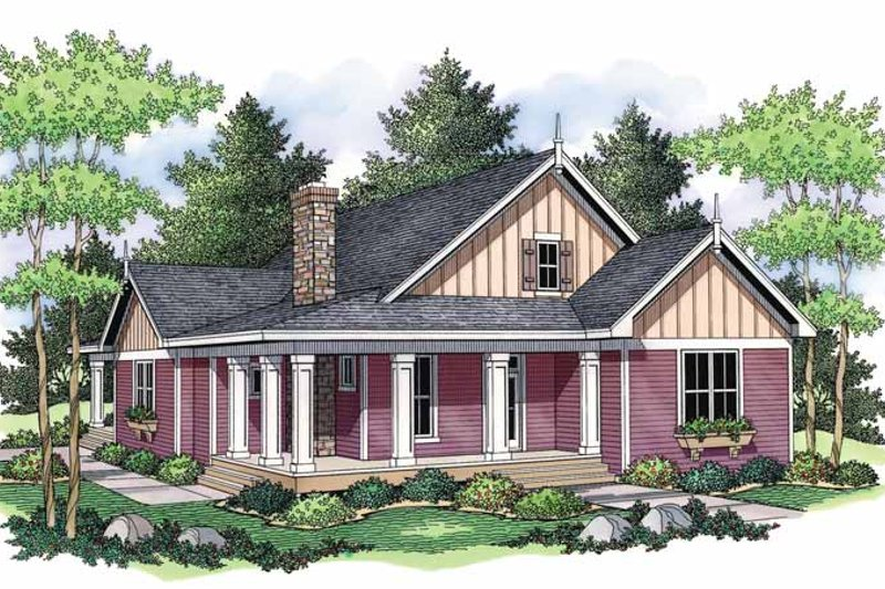 House Design - Country Exterior - Front Elevation Plan #51-691