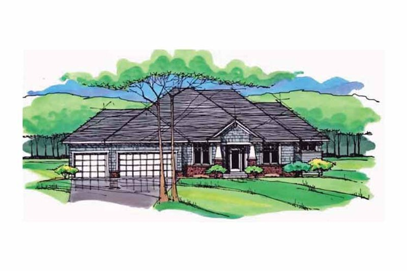 Country Exterior - Front Elevation Plan #51-978 - Houseplans.com