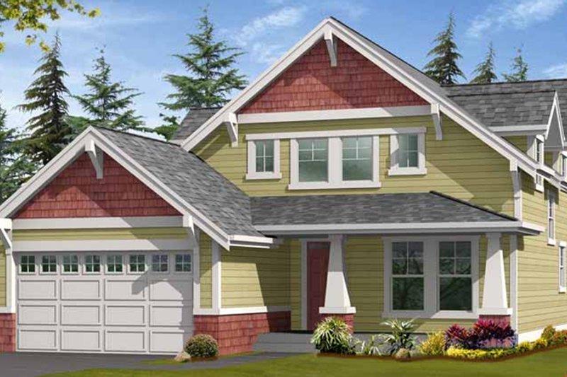 Craftsman Exterior - Front Elevation Plan #132-358 - Houseplans.com
