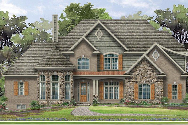Dream House Plan - European Exterior - Front Elevation Plan #1057-2