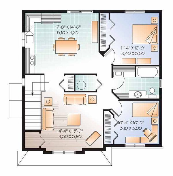 Traditional Floor Plan - Upper Floor Plan Plan #23-2560