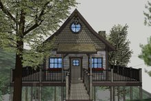 House Plan Design - Cabin Exterior - Front Elevation Plan #123-115