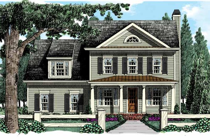 Country Exterior - Front Elevation Plan #927-951
