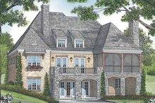House Plan Design - European Exterior - Rear Elevation Plan #453-588