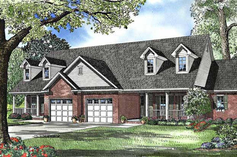 Country Exterior - Front Elevation Plan #17-3028