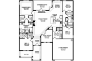Colonial Style House Plan - 4 Beds 2 Baths 2238 Sq/Ft Plan #1058-122 Floor Plan - Main Floor Plan