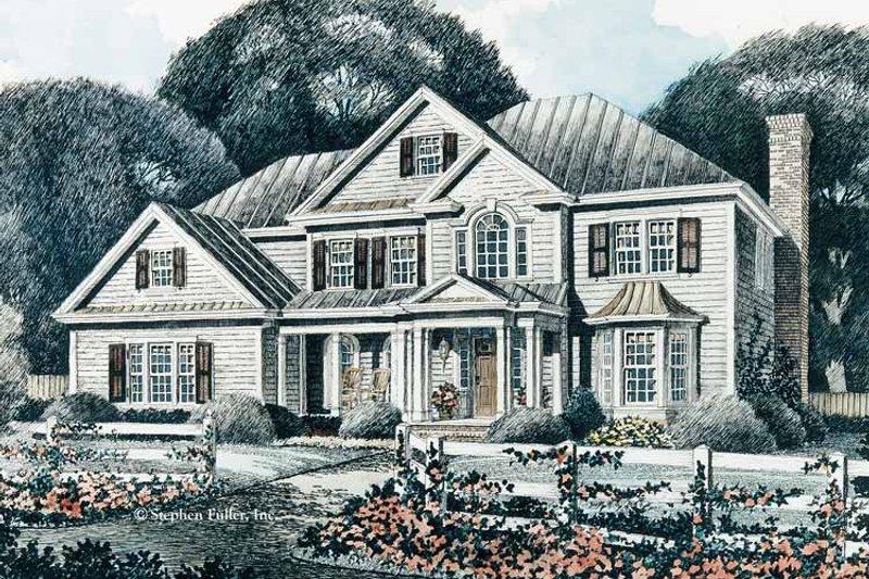 Colonial Exterior - Front Elevation Plan #429-91 - Houseplans.com