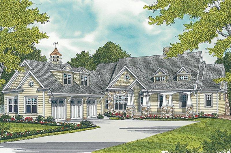 Architectural House Design - Craftsman Exterior - Front Elevation Plan #453-633