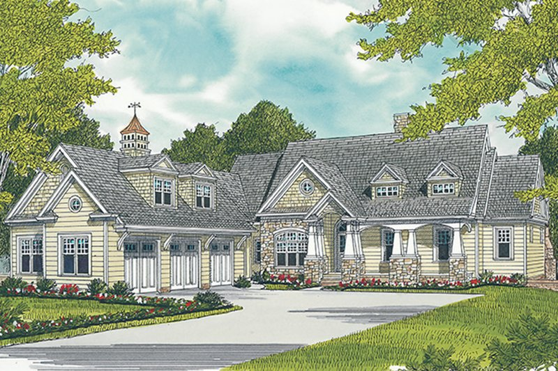 Craftsman Exterior - Front Elevation Plan #453-633