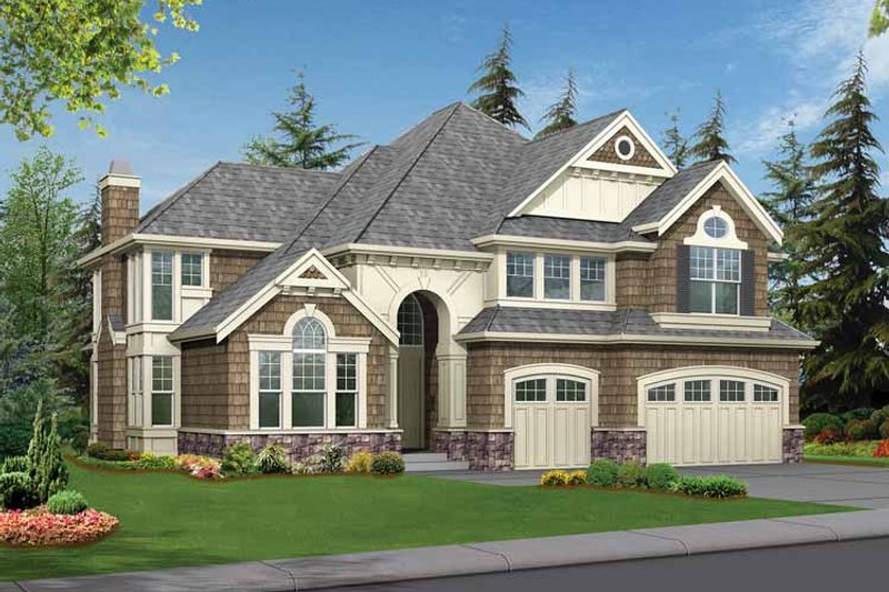Craftsman Exterior - Front Elevation Plan #132-254 - Houseplans.com
