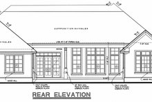 House Plan Design - Craftsman Exterior - Rear Elevation Plan #20-164