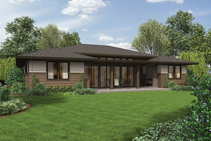 Contemporary Exterior - Rear Elevation Plan #48-917 - Houseplans.com