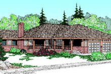 House Plan Design - Ranch Exterior - Front Elevation Plan #60-172