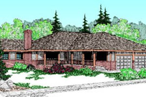 Ranch Exterior - Front Elevation Plan #60-172