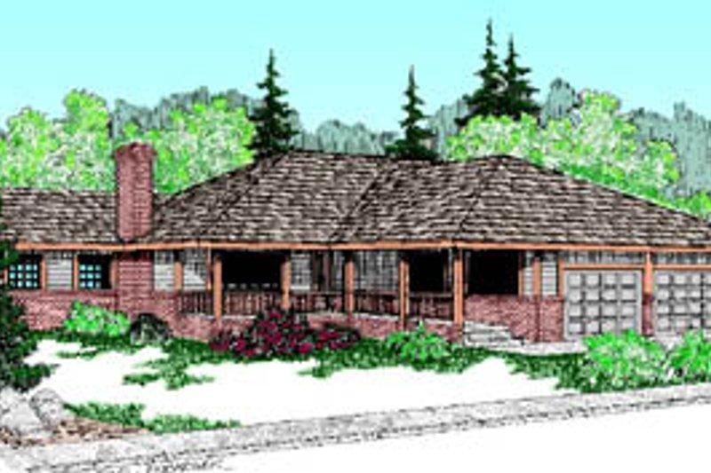 Ranch Exterior - Front Elevation Plan #60-172 - Houseplans.com
