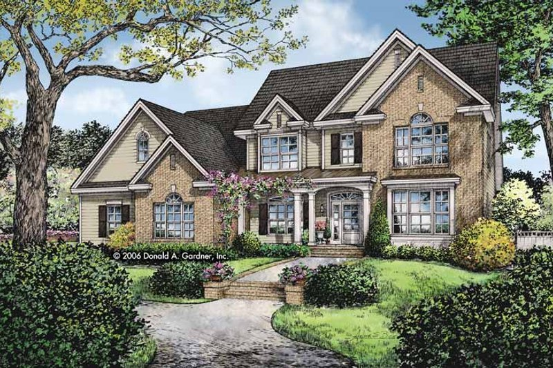 Traditional Exterior - Front Elevation Plan #929-820 - Houseplans.com