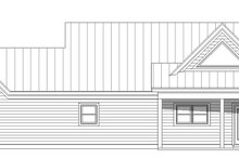 Country Exterior - Rear Elevation Plan #932-77