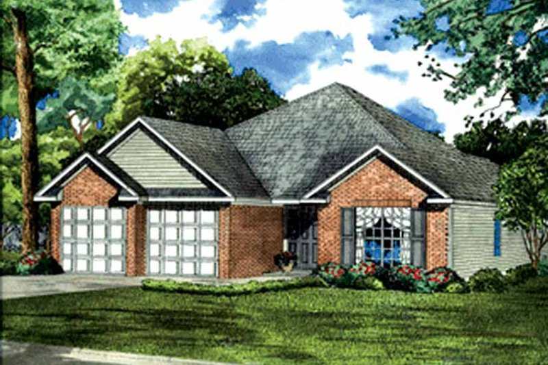 Ranch Exterior - Front Elevation Plan #17-3224