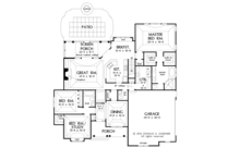 Craftsman Floor Plan - Main Floor Plan Plan #929-948