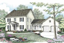 Country Exterior - Front Elevation Plan #1002-1