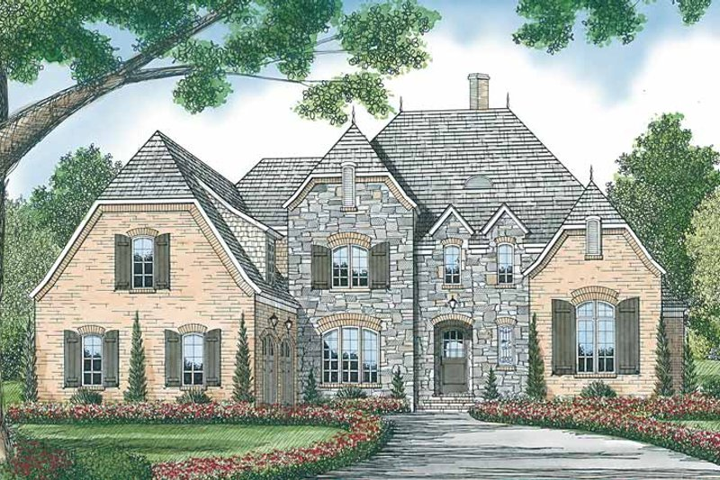 Country Exterior - Front Elevation Plan #453-449