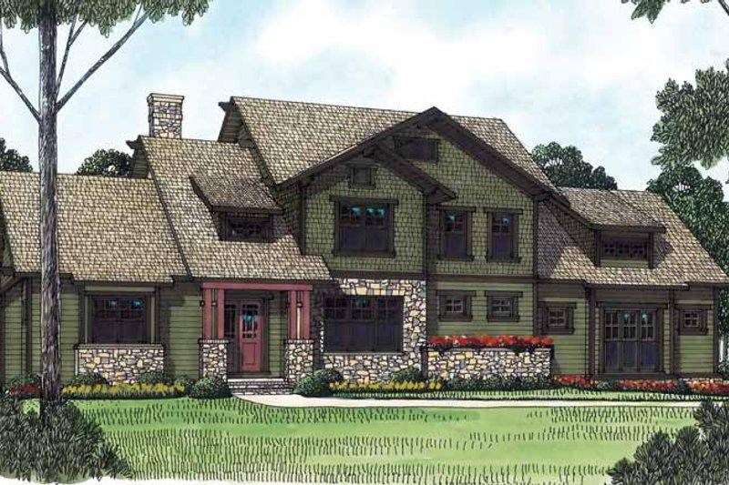 Craftsman Exterior - Front Elevation Plan #453-445