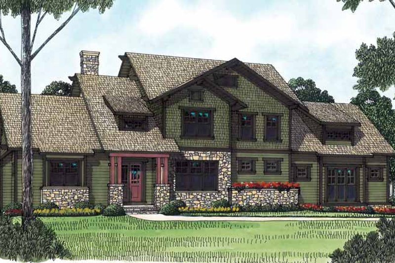 Home Plan - Craftsman Exterior - Front Elevation Plan #453-445