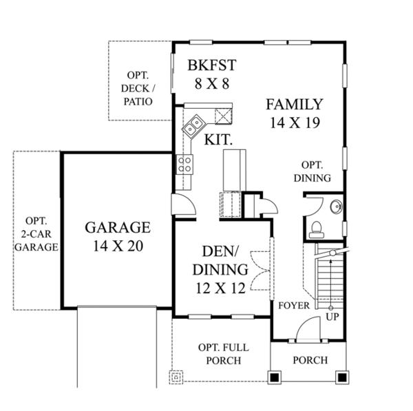 House Plan Design - Colonial Floor Plan - Main Floor Plan #1053-46