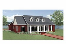 Home Plan - Country Exterior - Front Elevation Plan #44-221