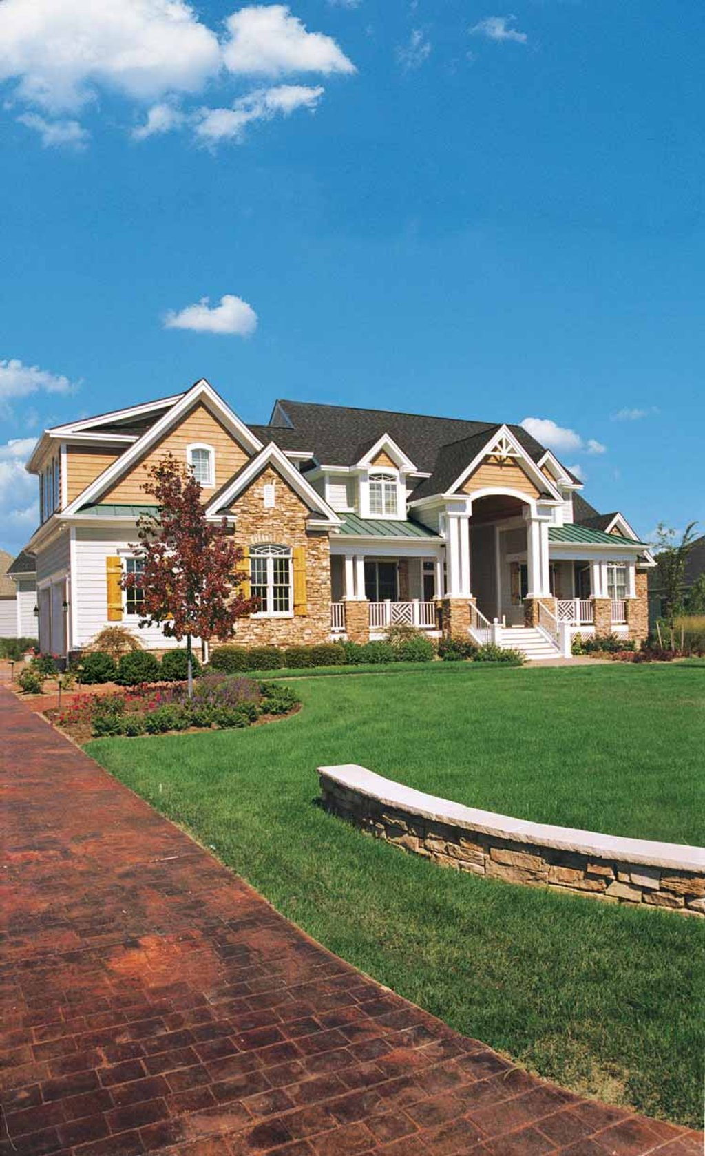 Craftsman style house plan 3 beds 3 5 baths 3647 sq ft for The blarney house plan
