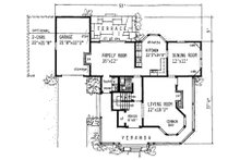 Victorian Floor Plan - Main Floor Plan Plan #315-103