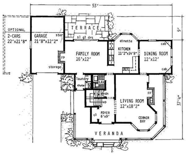 Victorian Floor Plan - Main Floor Plan Plan #315-103